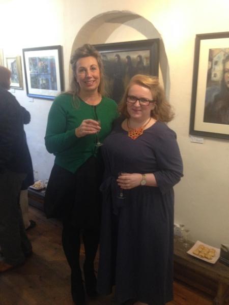 Artist Gillian Lee Smith with Alison Bartram, Heart Gallery proprietor
