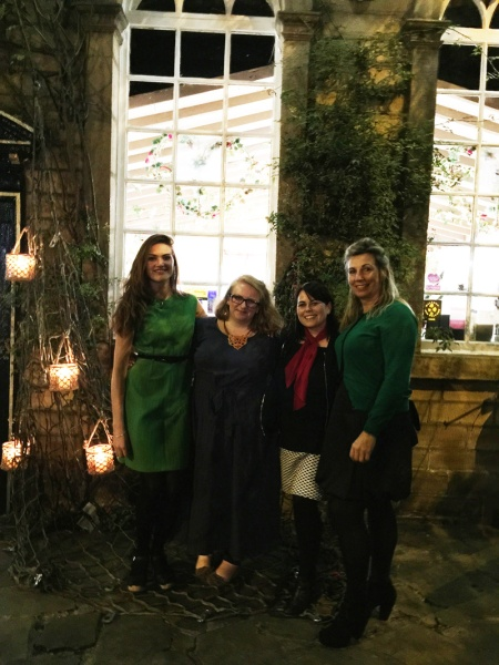 Gillian Lee Smith with Alison and Ruby from Heart Gallery and Fiona Pattison of happy4pr