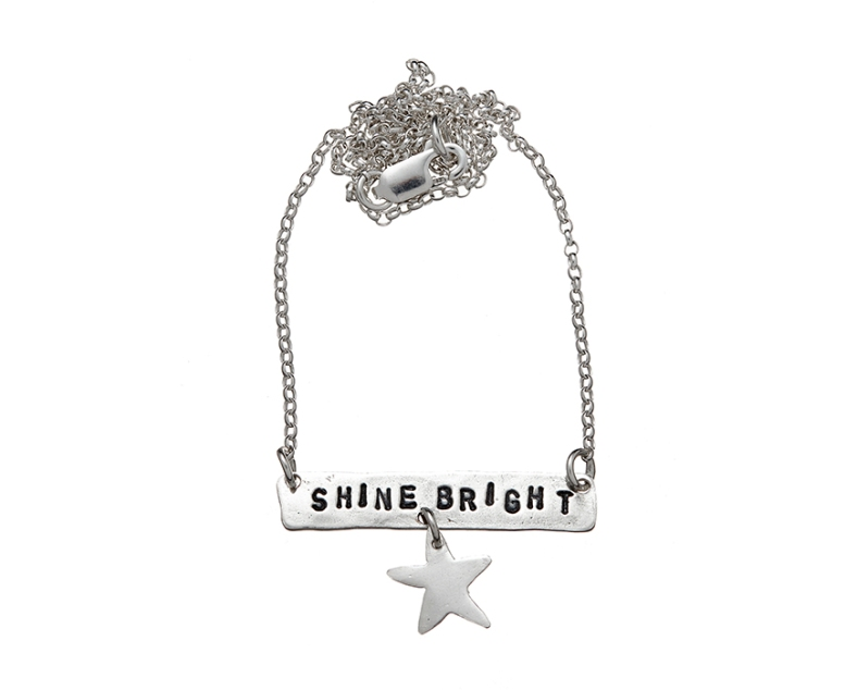 Shine Bright - silver necklace
