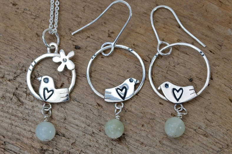 Bird necklace and earrings - Frances Noon