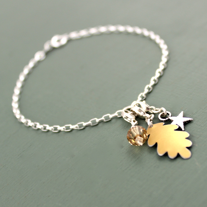 Oak Leaf bracelet from our current Christmas collection