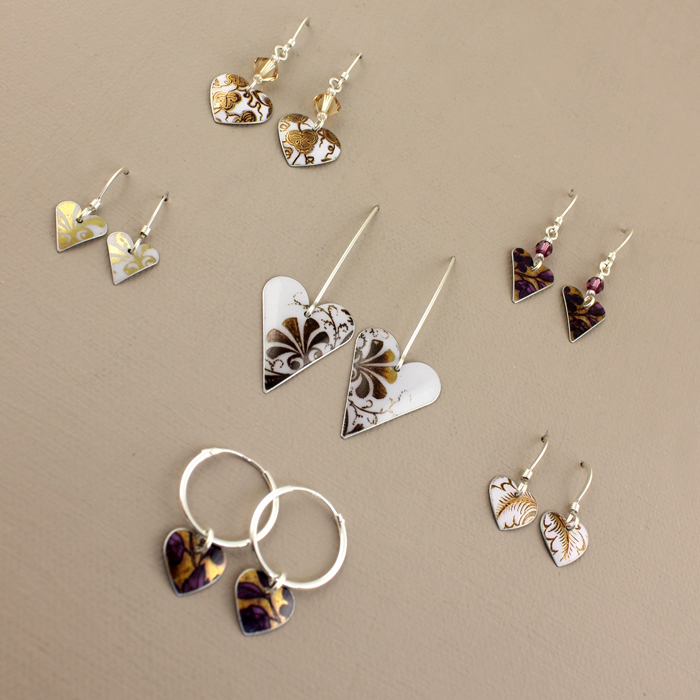 Selection of earrings from our current Christmas collection