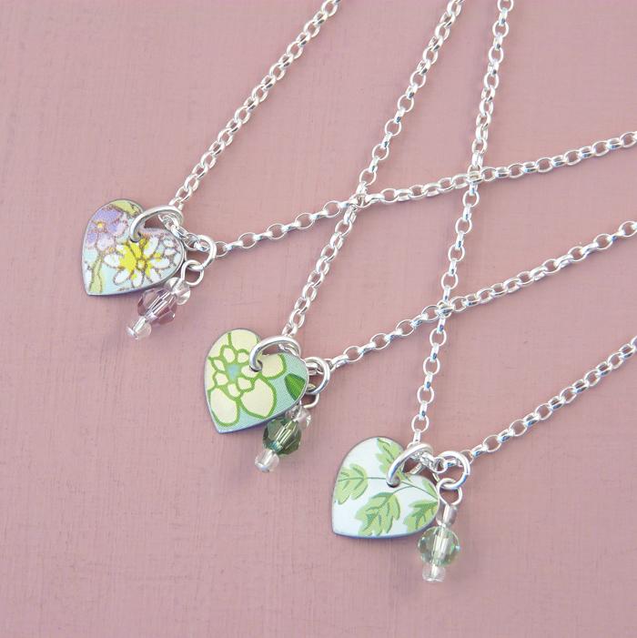 Heart and bead charm bracelets