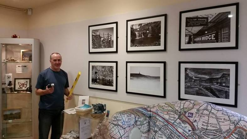 Geoff Matthews setting up the Calendar Exhibition