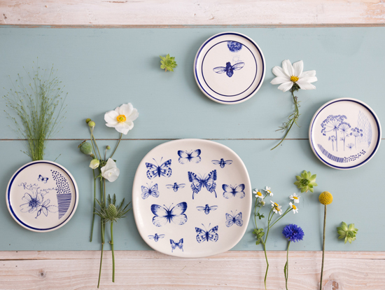 Coasters and plates by Kate Thorburn also make fabulous wall pieces