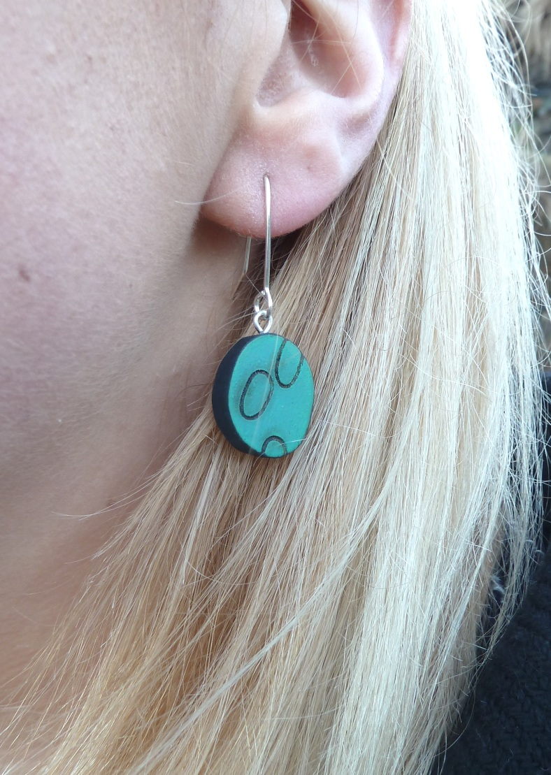 Blue Wooden earrings - Kelly Munro