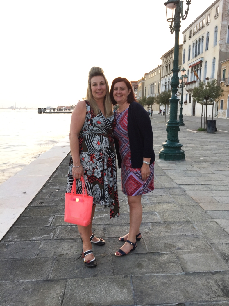 I did eventually buy a frock! Here I am wearing it in Venice last week.
