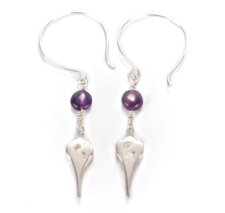 Lela earrings with amethyst - Andrea Eserin