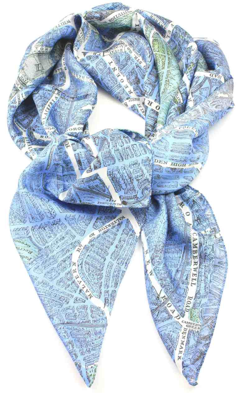 City on Cloth silk scarf