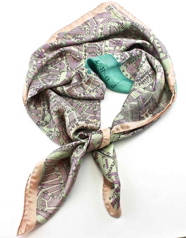 Marseilles silk scarf