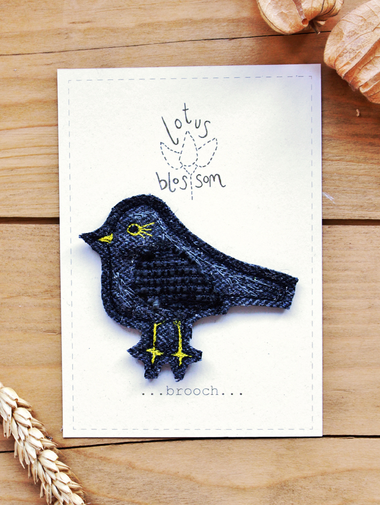 Blackbird brooch