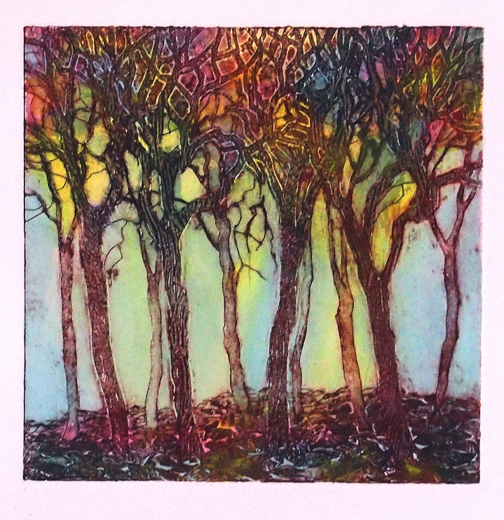Early Evening - a collagraph print
