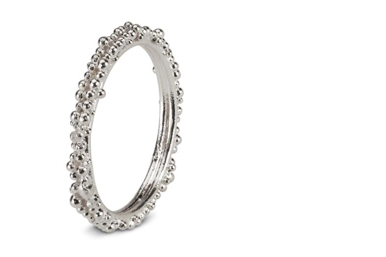 Fine Double Granule Ring