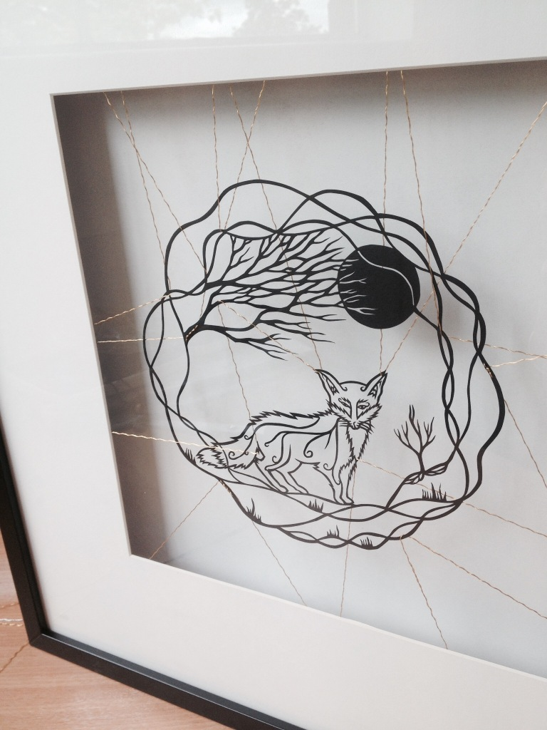 Finished framed papercut