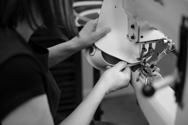 Stitching in the workshop