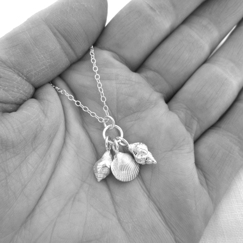 Charlotte's lovely silver shell necklace