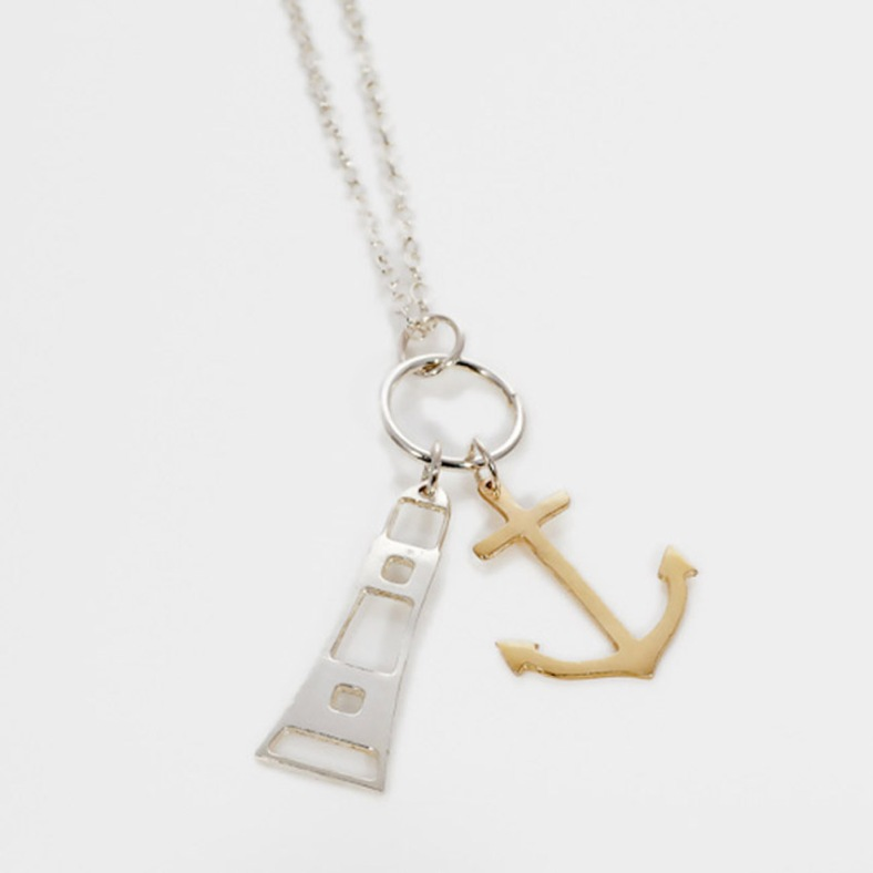 Lighthouse and Anchor necklace by Kate Wimbush