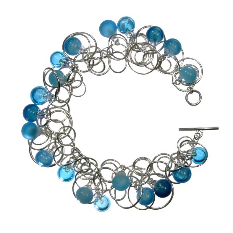 Turquoise blue bubble bracelet