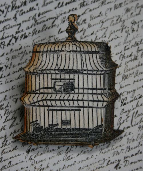 Birdcage brooch