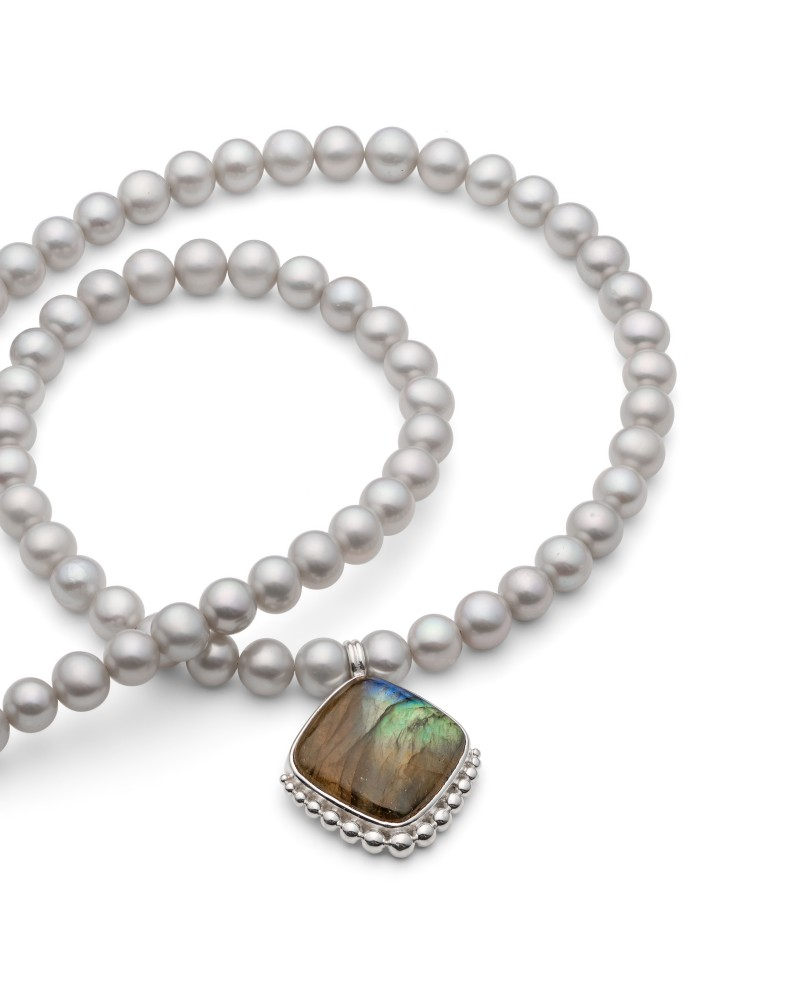 Pearl and Gemstone necklace from Rebecca's Classic Collection