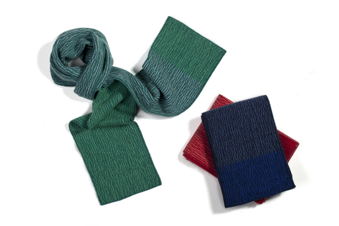Colour block scarves