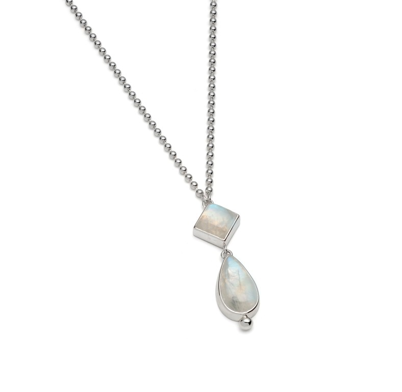 Rainbow Moonstone Necklace from Rebecca's Classic Collection