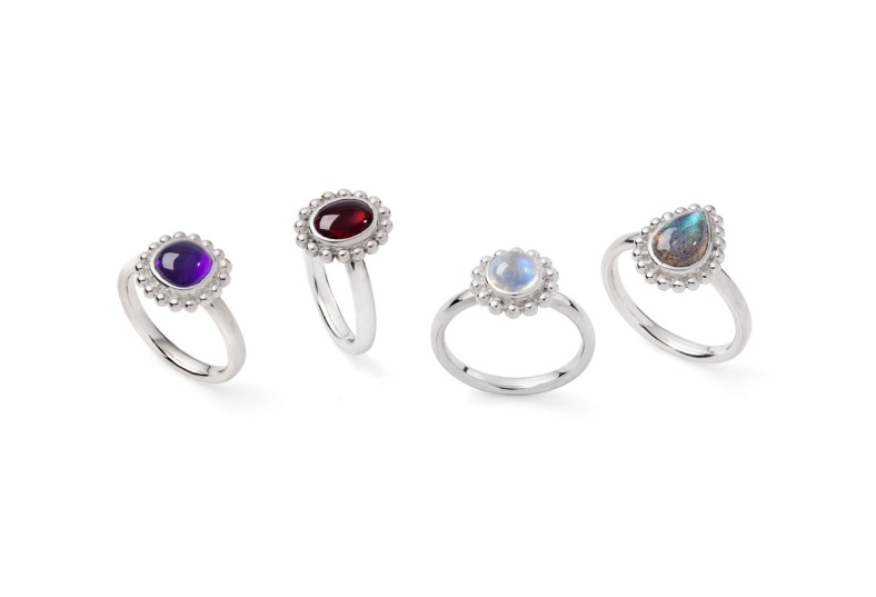 Selection of rings from Rebecca's Classic collection