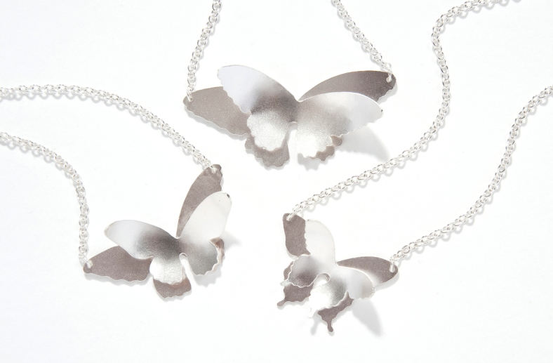 Double butterfly pendants