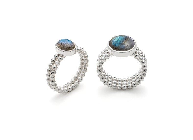 Labradorite rings from Rebecca's Granule Collection