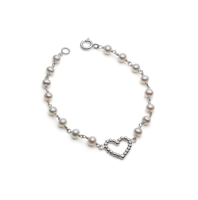 Pearl and Silver Bracelet from Rebecca's Heart Collection
