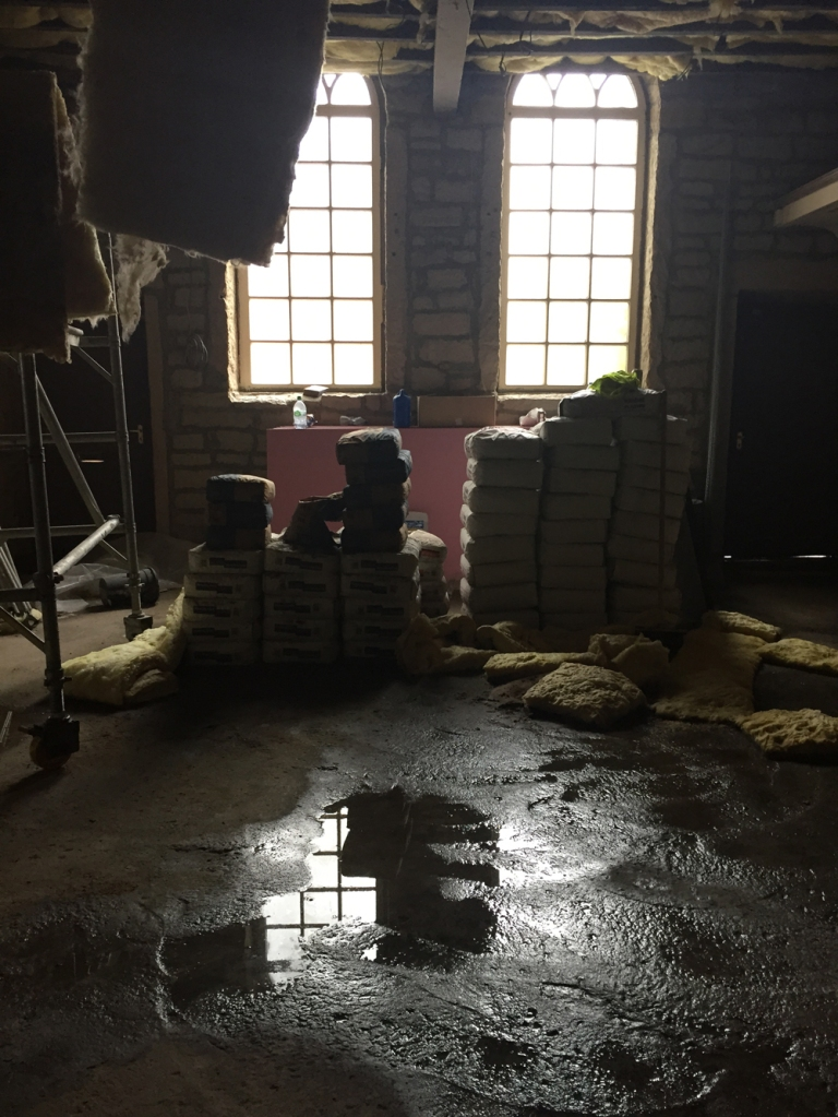 damaged plaster bags