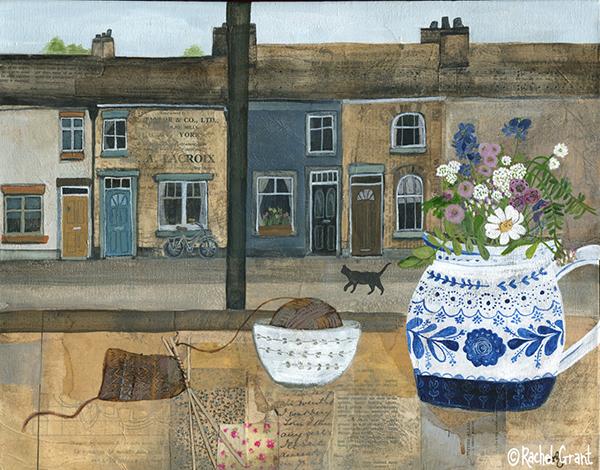 5.Rachel Grant Knitting and Flowers 50x40cm