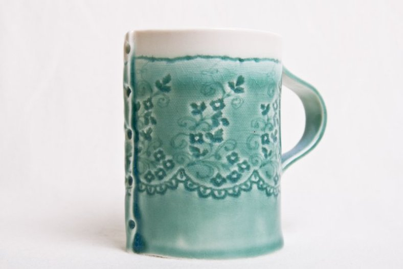 5.Cathball Green mug
