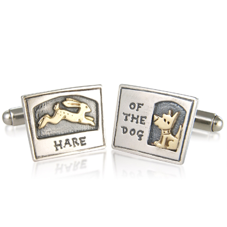 BB085 hare of the dog cufflinks