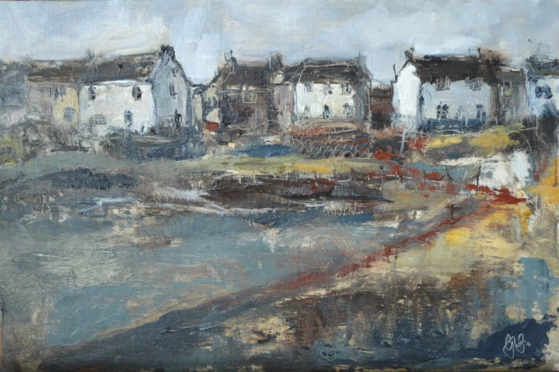 Harbour house - oil on board - 20x30cms March 2016