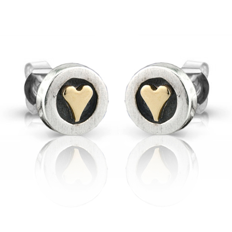NH205 golden heart earrings